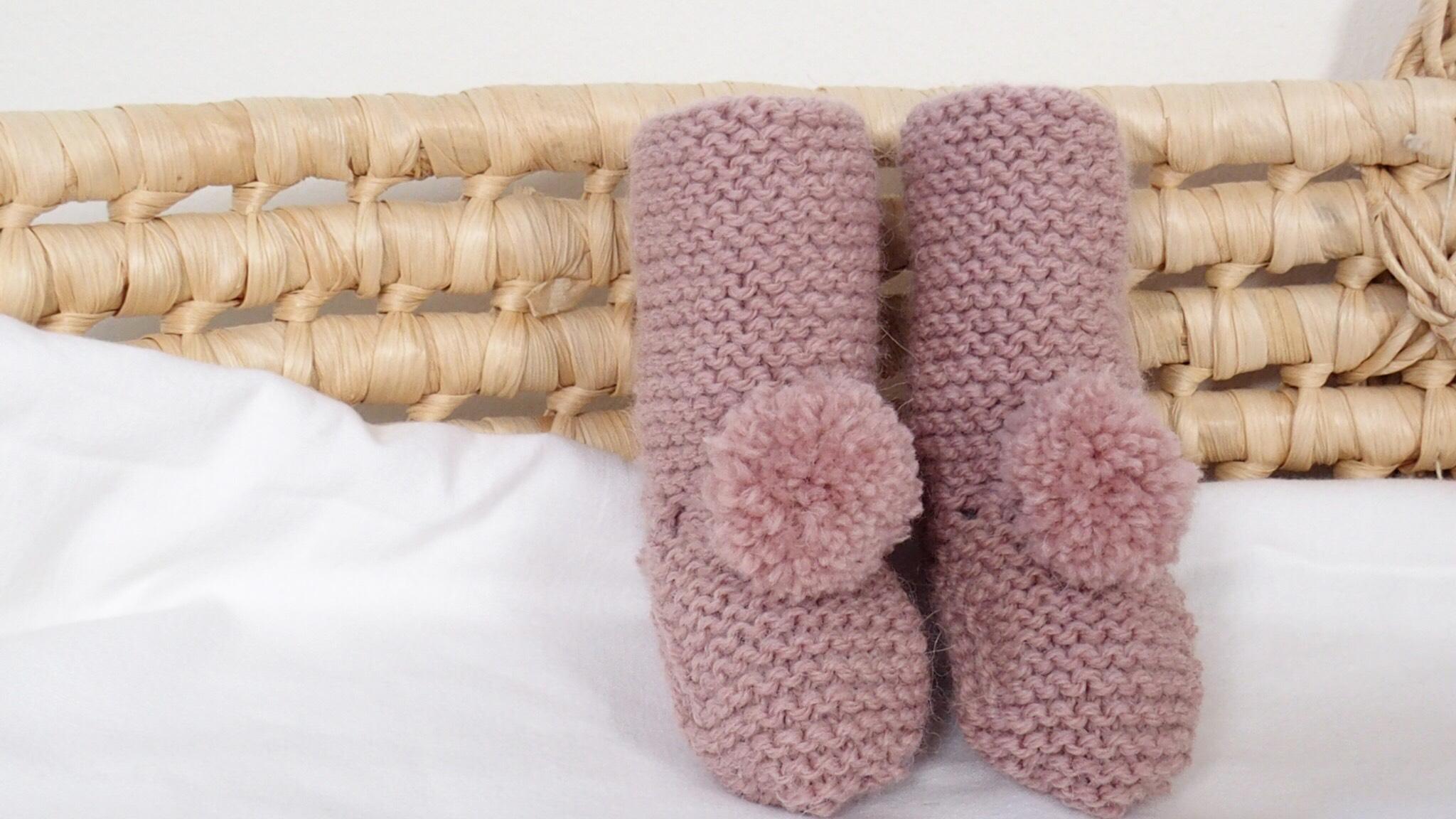 Patucos bota alta lana fina