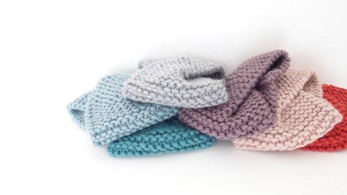 Turbante trenza lana gruesa