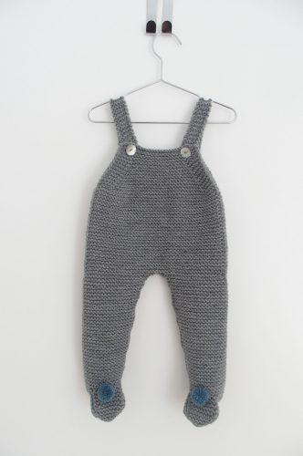 Pelele liso lana media