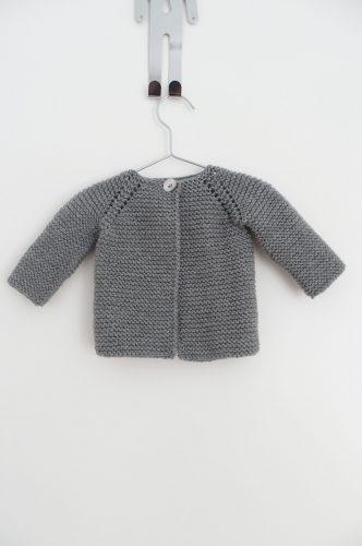 Chaqueta botón lana media